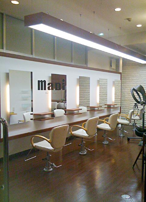 兵庫県 美容室の店舗デザイン施工事例