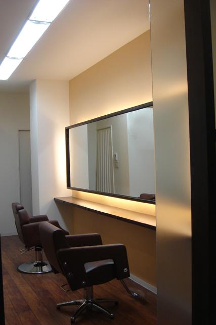 大阪府 八尾市 美容室の店舗デザイン施工事例